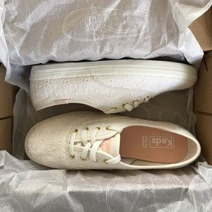 Keds Champion Floral Cream Eyelet Shoes